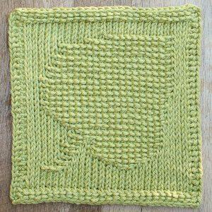 Leaf Tunisian Crochet Dishcloth Pattern | www.petalstopicots.com