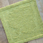 Leaf Tunisian Crochet Dishcloth Pattern