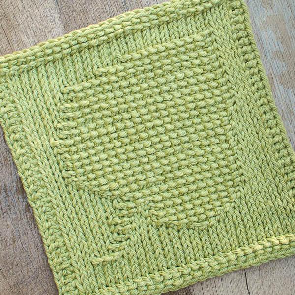 Tunisian Crochet Dishcloth Free Pattern : Leaf Tunisian Crochet Dishcloth Pattern - Petals to Picots