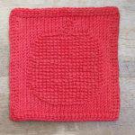 Apple Tunisian Crochet Dishcloth Pattern