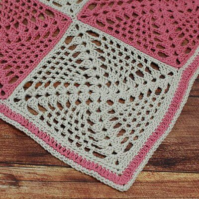 Retro Chic Crochet Table Runner Pattern Petals To Picots