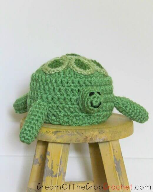 Preemie/Newborn Turtle Crochet Hat Pattern - Pattern from ...