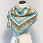 Cozy Striped Shawl Crochet Pattern