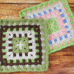 Caterpillar Square Crochet Pattern
