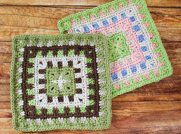 Caterpillar Square Crochet Pattern | www.petalstopicots.com | #crochet #fiber
