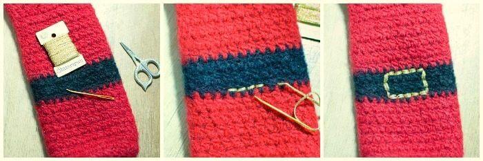 Felted Santa Wine Bottle Holder Crochet Pattern | www.petalstopicots.com | #crochet