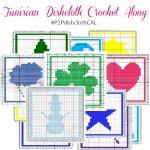 Tunisian Dishcloth Crochet Along