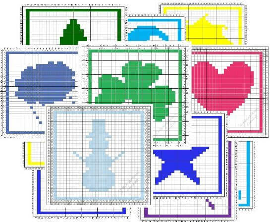 A Year of Tunisian Crochet Dishcloth Patterns | www.petalstopicots.com