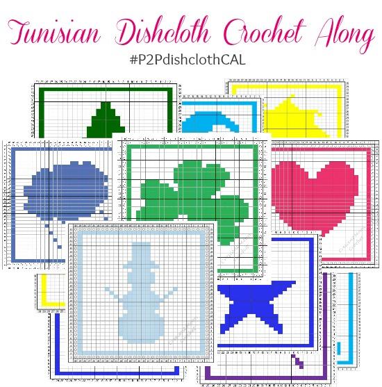 Tunisian Dishcloth Crochet Along #P2PdishclothCAL