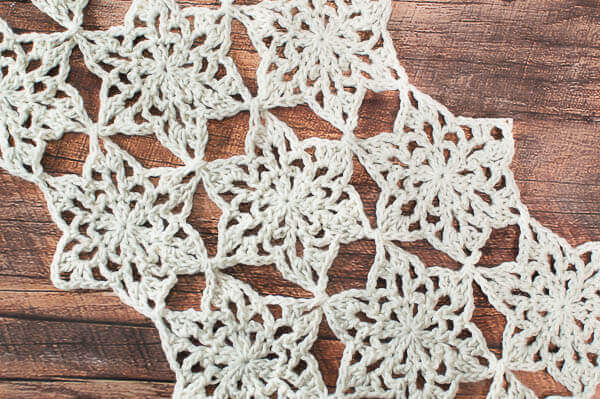Free Crochet Pattern Flower Table Runner : Snowflake Table Runner Crochet Pattern Petals to Picots