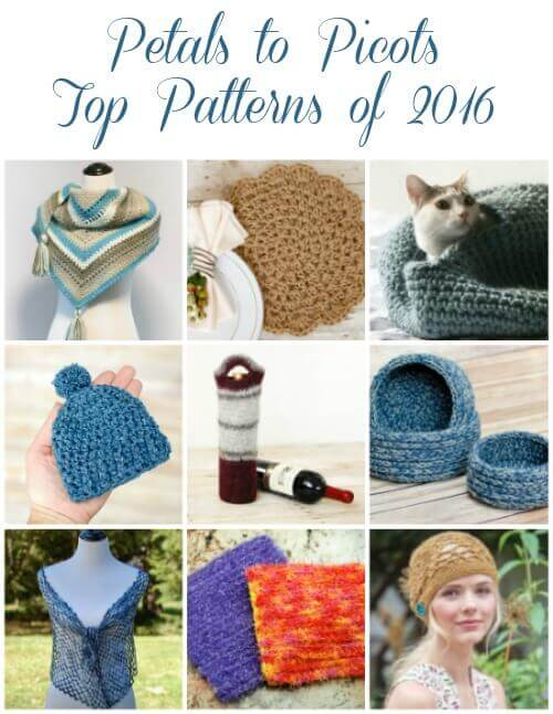 Petals to Picots Top Patterns of 2016 #crochet #fiber