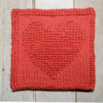 Heart Tunisian Crochet Dishcloth … February Finale