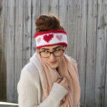 Queen of Hearts Ear Warmer Crochet Pattern