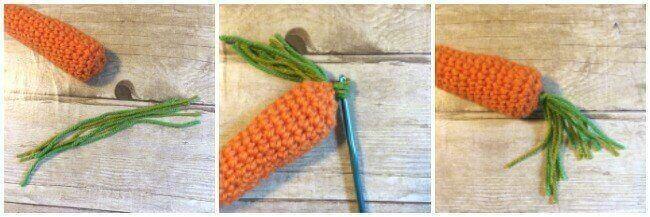 Crochet Carrot Pattern | www.petalstopicots.com | #crochet #fiber