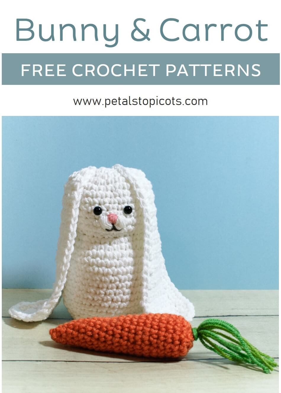 Crochet Bunny and Carrot Patterns