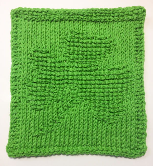 ShamrockTunisian Crochet Dishcloth … March Finale