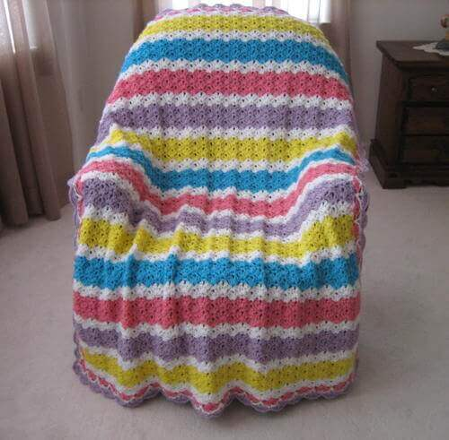 Summer's End Glow Crochet Blanket