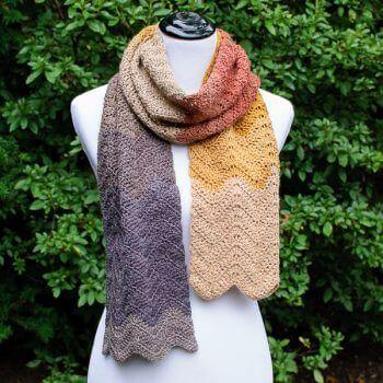Autumn Ripple Crochet Scarf