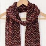 Three-Color Crochet Ripple Scarf Pattern