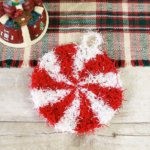 Christmas Peppermint Crochet Scrubby Pattern