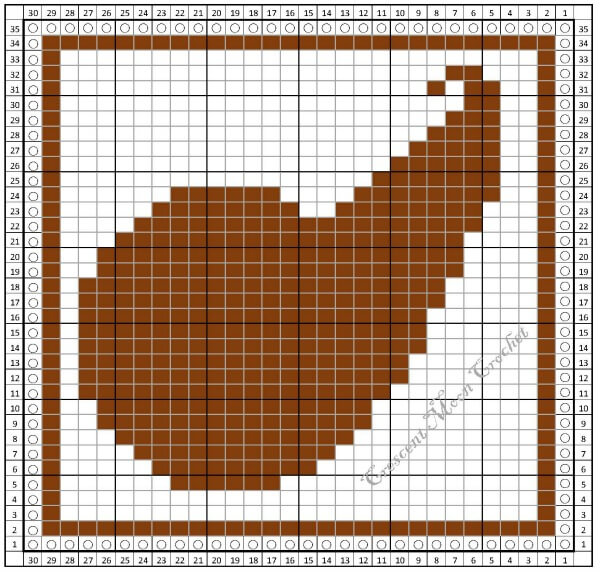 Cornucopia Dishcloth ... Free Tunisian Crochet Pattern | www.petalstopicots.com