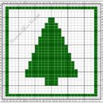 Tunisian Crochet Monthly Dishcloth Crochet Along …. Christmas Tree Dishcloth