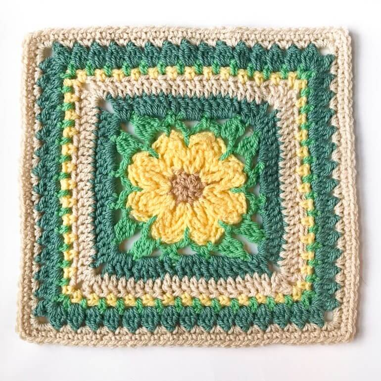 Daisy Afghan Square