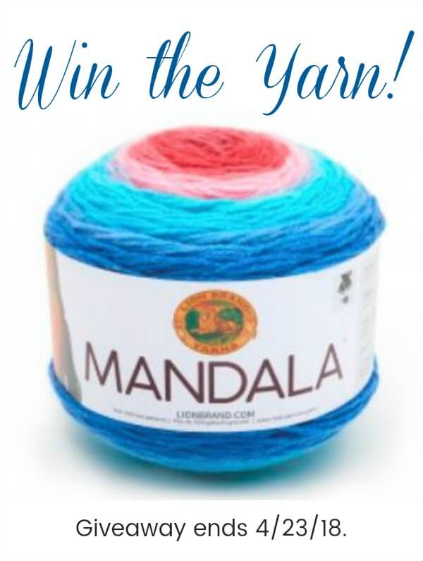 Enter to win 3 cakes of Mandala Yarn! Giveaway is open now through midnight, 4/23/18. Open to U.S. and Canadian residents only. Good luck! #petalstopicots