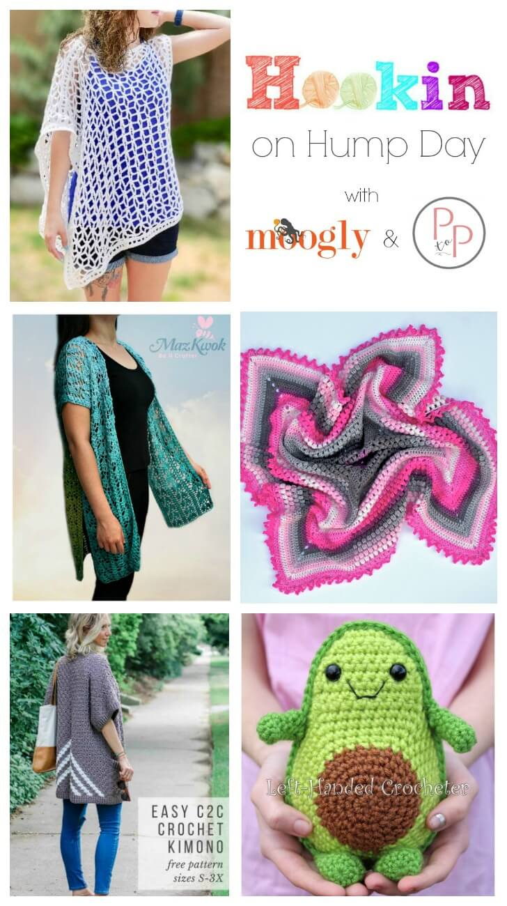 See whats trending in the fiber world! The latest Hookin\' on Hump Day is live ... lots of great crochet and knit patterns.