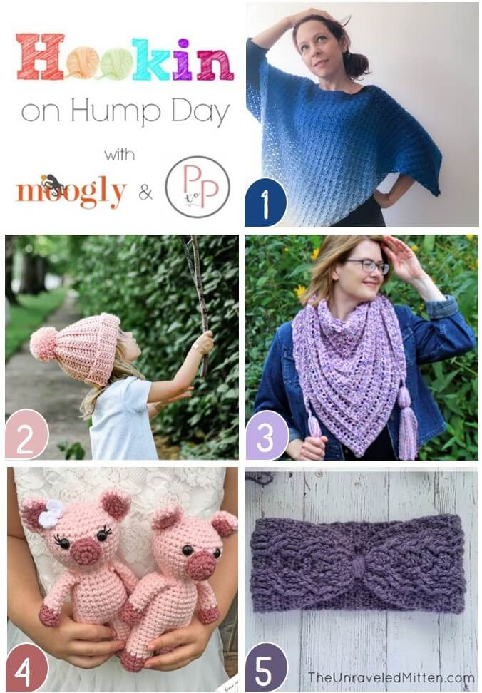 See whats trending in the fiber world! The latest Hookin\' on Hump Day is live ... lots of great crochet and knit patterns. #petalstopicots