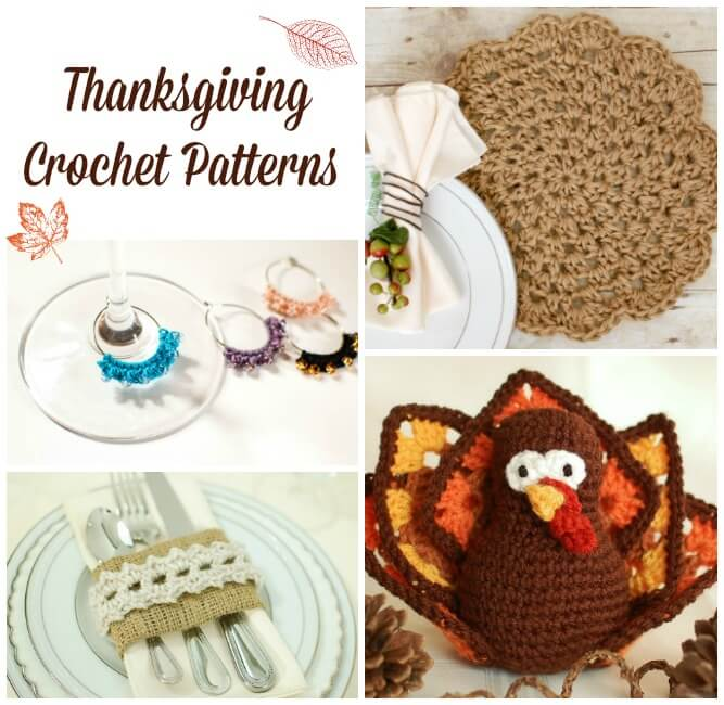 Thanksgiving Crochet Patterns for Your Home, Your Table, or Your Hosts | www.petalstopicots.com