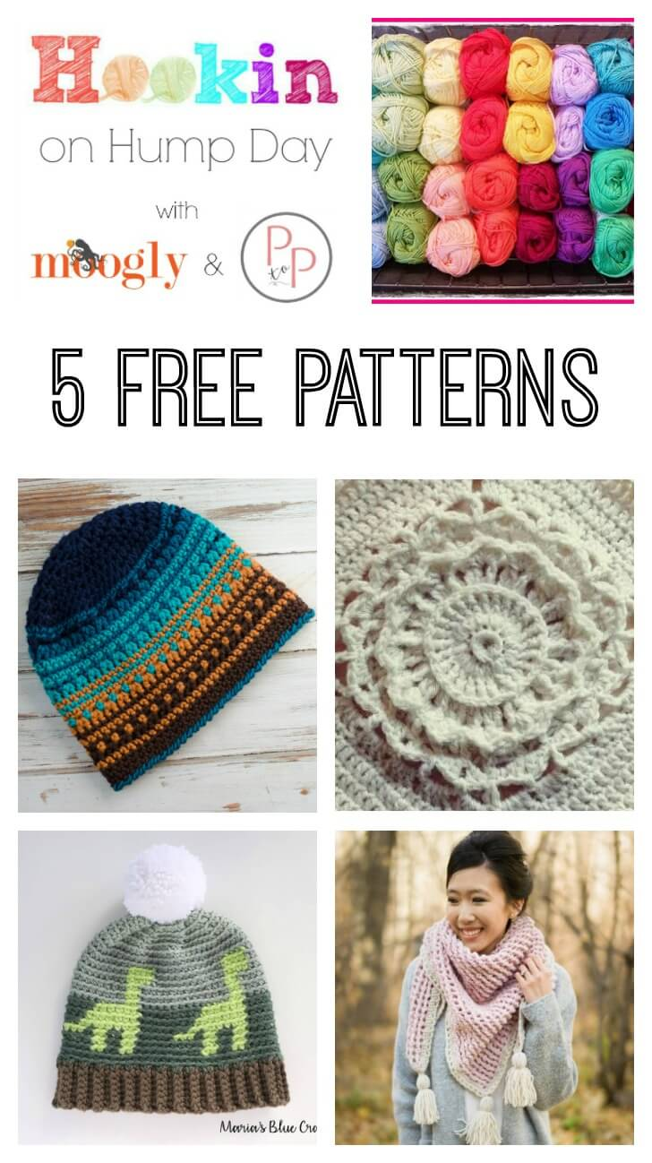 Awesome free patterns on Hookin\' on Hump Day! #crochet #knit