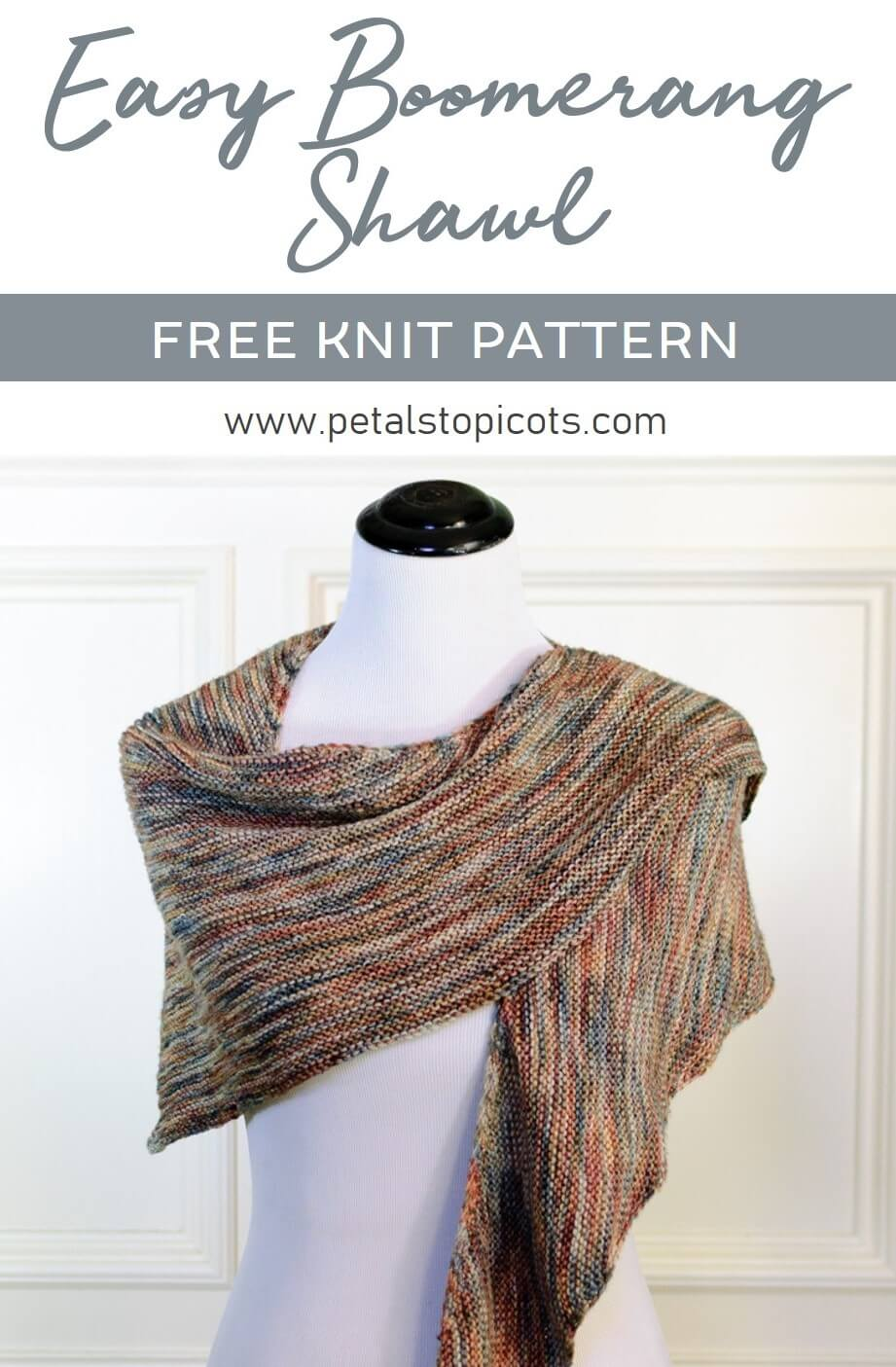 Easy Boomerang Shawl Knit Pattern {With Video Tutorial}