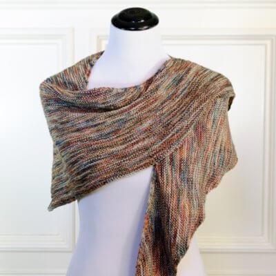 Easy Boomerang Shawl Knitting Pattern