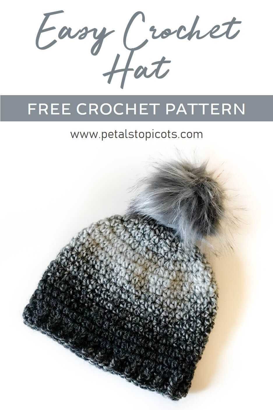 Easy Crochet Hat Pattern ... Great for Beginners!