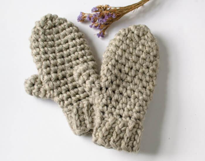 Chunky Crochet Mittens Pattern