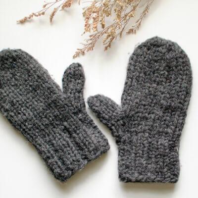 Chunky Knit Mittens Pattern