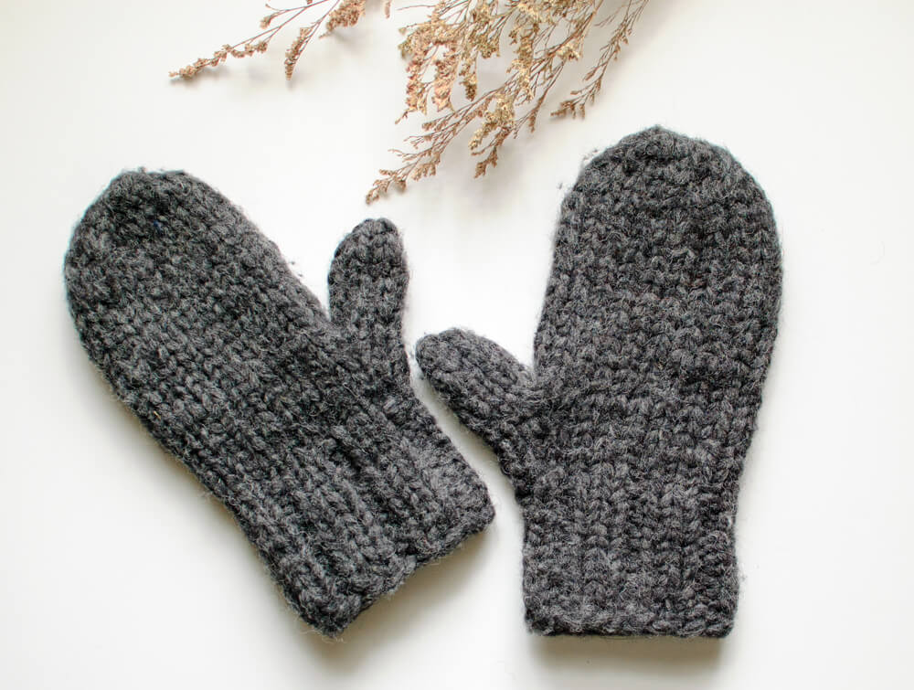 Chunky Knit Mittens Pattern - Great for Beginners ...