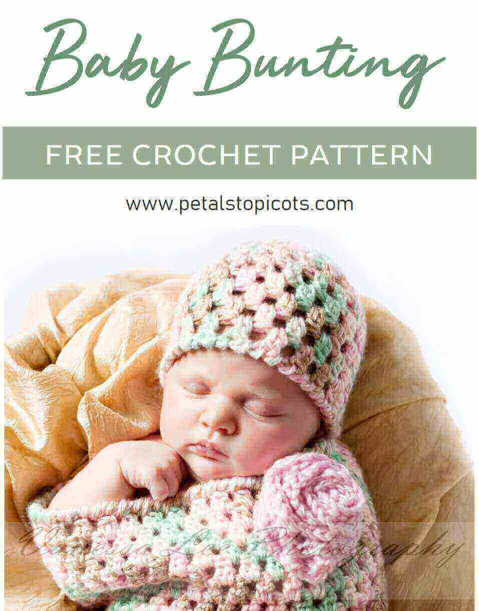 Crochet Baby Bunting With Hat Pattern Petals To Picots