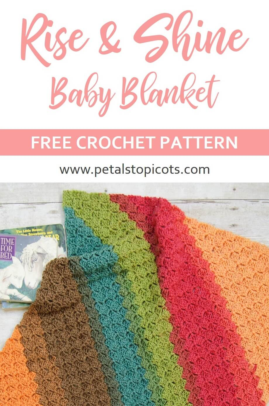 This colorful crochet baby blanket is a beautiful corner to corner design that is quick and easy to work up and perfect for gifting!