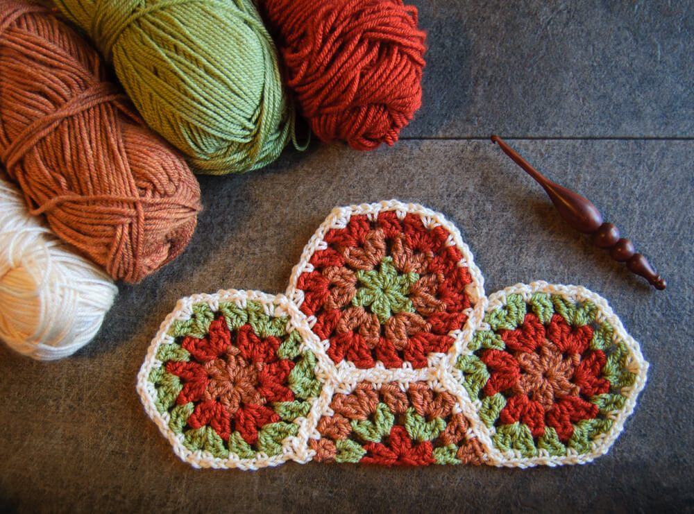 Crochet Half Hexagon Pattern