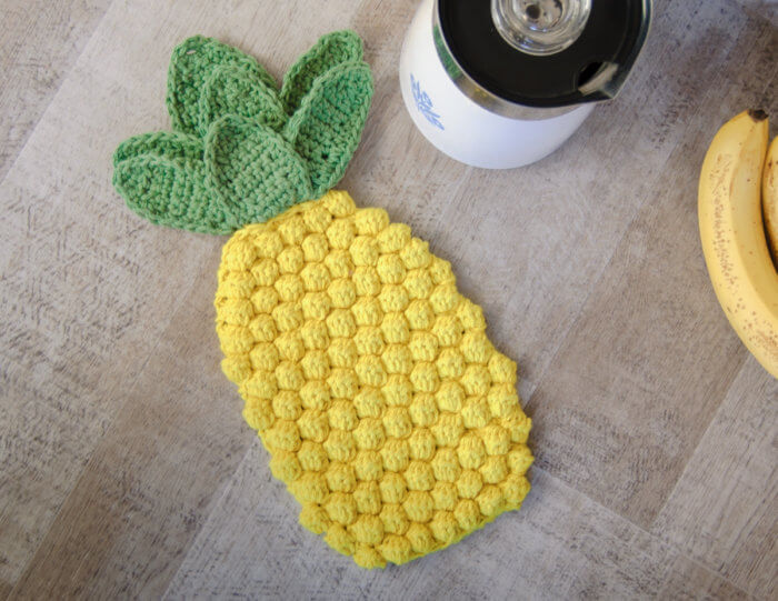 Pineapple Crochet Hot Pad Pattern