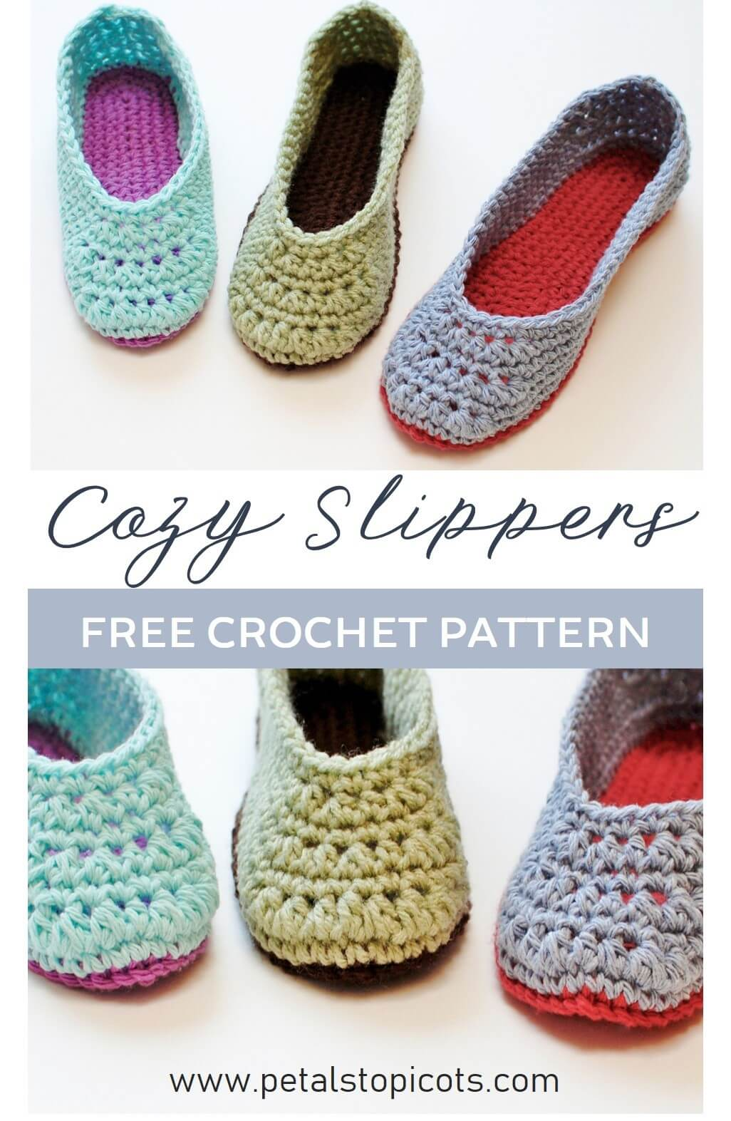 Crochet Slippers - A Free Crochet Slipper Pattern!