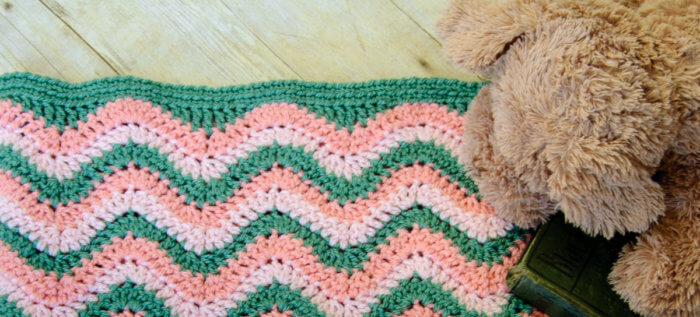 Straight edging for crochet ripple pattern