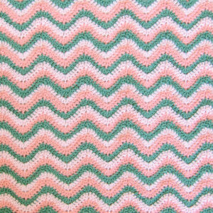 Ripple Crochet Pattern Watermelon Baby Blanket Petals To Picots