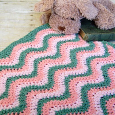 Watermelon Ripple Baby Blanket