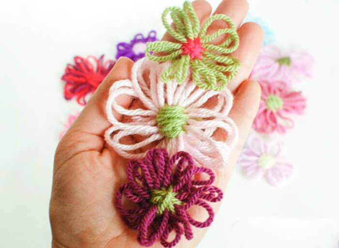 How to Make Yarn Flowers