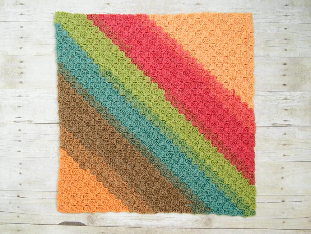 Rise & Shine C2C Crochet Baby Blanket