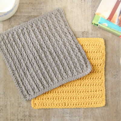 Cabled Columns Dishcloth