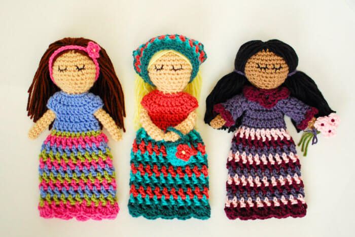 These crochet dolls make for a sweet little friend to stitch up for yourself or someone special ... ideal as a lovey for little ones!